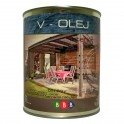 V - OLEJ 0,9 l - vodou ředitelná olejová lazura na měkké dřevo