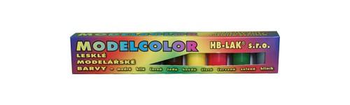Modelcolor - sada 9 ks vodou ředitelných modelářských barev